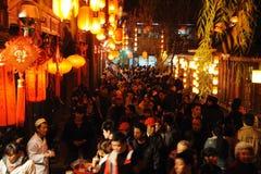 Tempiale cinese di nuovo anno 2012 giusto a Chengdu Fotografia Stock Libera da Diritti