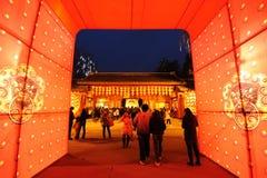 Tempiale cinese di nuovo anno giusto a chengdu Immagini Stock Libere da Diritti