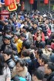 Tempiale cinese di nuovo anno giusto in jinli Immagini Stock Libere da Diritti