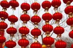 Tempiale cinese di nuovo anno giusto in Panjin Fotografie Stock