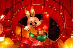 Tempiale cinese di nuovo anno giusto in Panjin Immagini Stock Libere da Diritti