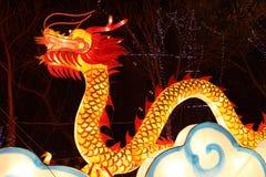 Tempiale cinese di nuovo anno giusto in Panjin Fotografie Stock Libere da Diritti