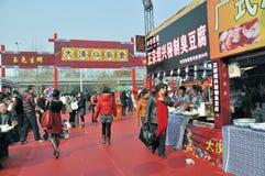 Tempiale cinese di nuovo anno giusto a wuhan Fotografia Stock