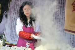 Tempiale cinese di nuovo anno giusto a wuhan Fotografia Stock Libera da Diritti