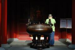 Tempiale cinese a Singapore Fotografia Stock