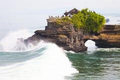 Tempiale dalla spiaggia, Bali, Indonesia Fotografia Stock
