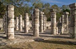 Tempiale dei guerrieri, Chichen Itza Immagine Stock Libera da Diritti