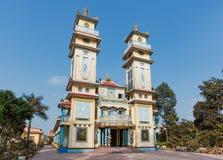 Tempiale del cao Dai nel Vietnam Fotografie Stock Libere da Diritti