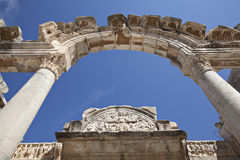 Tempiale del Hadrian, Ephesus, Smirne, Turchia Fotografie Stock