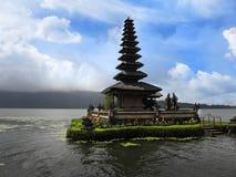 Tempiale del lago Bali Fotografia Stock Libera da Diritti