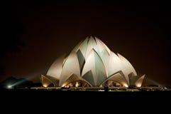 Tempiale del loto a Nuova Delhi Fotografie Stock