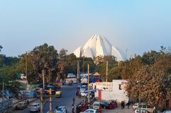 Tempiale del loto a Nuova Delhi fotografia stock libera da diritti