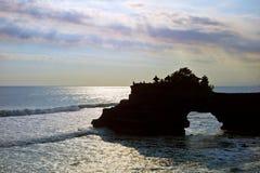 Tempiale del lotto di Tanah in Bali Immagine Stock