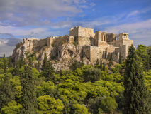 Tempiale del Parthenon, Atene, Grecia Fotografie Stock Libere da Diritti
