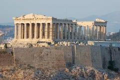 Tempiale del Parthenon in Grecia, Atene Fotografie Stock Libere da Diritti