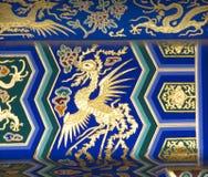 Tempiale del particolare di Phoenix di cielo Pechino Cina immagini stock