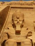 Tempiale del Pharaoh Ramses II in Abu Simbel, Egitto fotografia stock