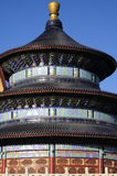 Tempiale del primo piano di cielo Fotografie Stock