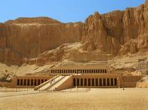 Tempiale della regina Hatshepsut, valle dei re, Luxor fotografia stock libera da diritti