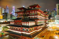 Tempiale della reliquia del dente del Buddha a Singapore Fotografia Stock