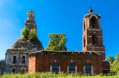Tempiale della Vergine Santa nella regione di Mosca Immagini Stock Libere da Diritti