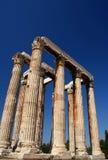 Tempiale delle colonne dello Zeus Fotografia Stock