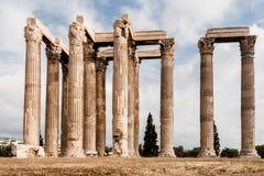 Tempiale dello Zeus Atene di olimpionico Immagine Stock