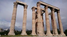 Tempiale dello Zeus di olimpionico Immagini Stock