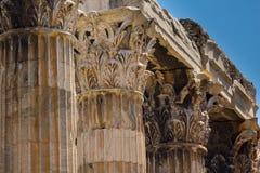 Tempiale dello Zeus di olimpionico Immagine Stock