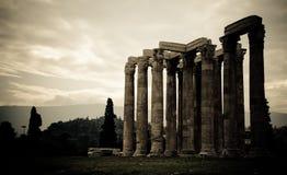 Tempiale dello Zeus di olimpionico Fotografie Stock