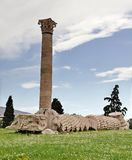 Tempiale dello Zeus di olimpionico Fotografie Stock Libere da Diritti