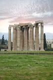 Tempiale dello zeus di olimpionico, Atene Immagini Stock Libere da Diritti