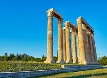 Tempiale dello Zeus di olimpionico Atene, Attica, Grecia Immagini Stock Libere da Diritti