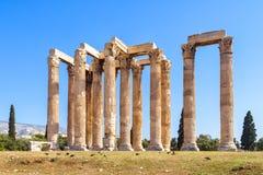 Tempiale dello Zeus di olimpionico a Atene, Grecia Immagini Stock