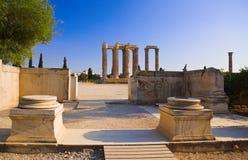 Tempiale dello Zeus di olimpionico a Atene, Grecia immagini stock libere da diritti