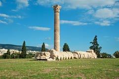 Tempiale dello Zeus di olimpionico a Atene, Grecia Fotografia Stock Libera da Diritti