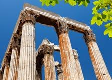 Tempiale dello Zeus di olimpionico, Atene, Grecia Immagini Stock Libere da Diritti