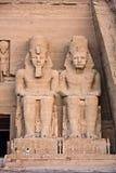 Tempiale di Abu Simbel Fotografie Stock Libere da Diritti