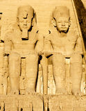 Tempiale di Abu Simbel nell'Egitto Fotografie Stock Libere da Diritti
