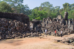 Tempiale di Angkor Wat in Cambogia Fotografia Stock Libera da Diritti