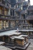 Tempiale di Angkor Wat in Cambogia fotografia stock