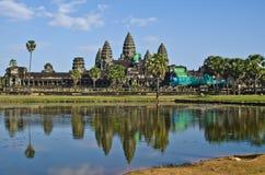 Tempiale di Angkor Wat, Siem Reap, Cambogia. Immagini Stock