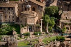 Tempiale di Antonius e di Faustina Immagine Stock Libera da Diritti