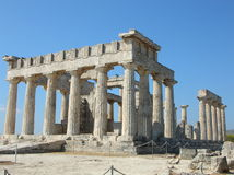 Tempiale di Aphaia - Aegina - Grecia Fotografia Stock Libera da Diritti