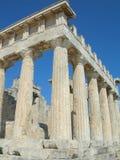 Tempiale di Aphaia - Aegina - Grecia Immagini Stock Libere da Diritti