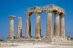 Tempiale di Apollo a Corinth Fotografia Stock Libera da Diritti