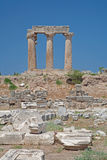 Tempiale di Apollo a Corinth Immagini Stock Libere da Diritti