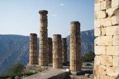 Tempiale di Apollo, Delfi Immagini Stock Libere da Diritti