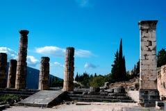 Tempiale di Apollo a Delfi Immagini Stock