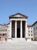 Tempiale di Augustus nei PULA fotografie stock